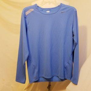 Nike Shirts - NIKE Dri-fit Blue Long Sleeve Shirt, Large